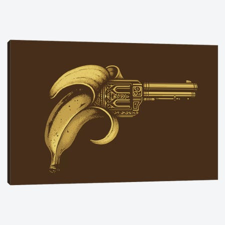 Banana Gun 3-Piece Canvas #EDI4} by Enkel Dika Canvas Art Print