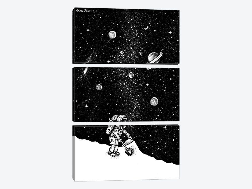 Space Dust by Enkel Dika 3-piece Canvas Art