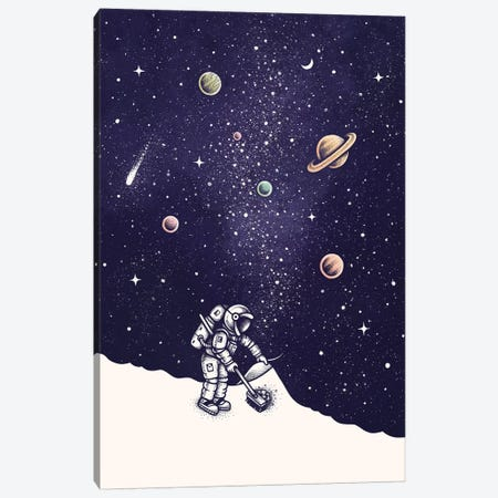 Space Dust Color Canvas Print #EDI52} by Enkel Dika Canvas Art