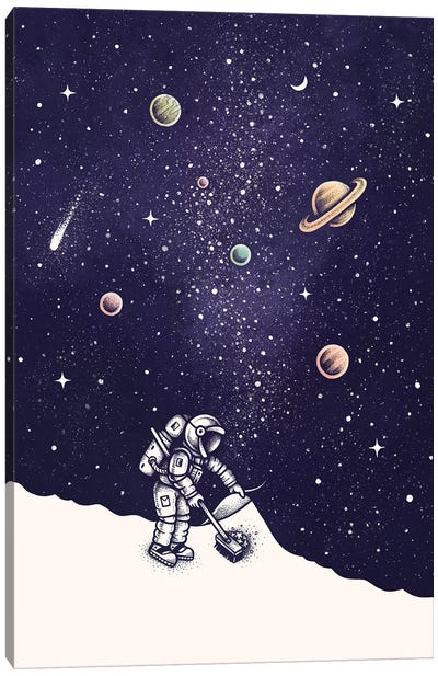Space Dust Color Canvas Art Print
