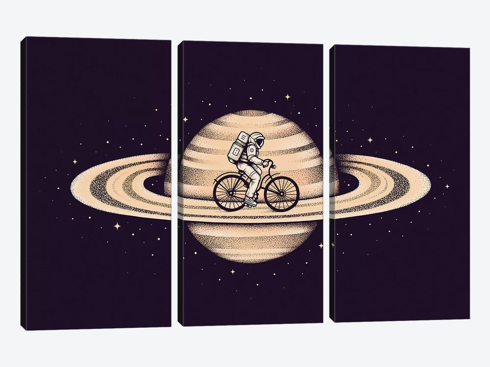 Space Ride II by Enkel Dika 3-piece Art Print