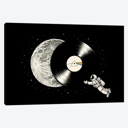 The Dark Side Of The Moon VII Canvas Print #EDI57} by Enkel Dika Canvas Art Print