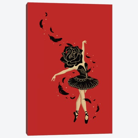 Black Swan Canvas Print #EDI5} by Enkel Dika Canvas Art Print