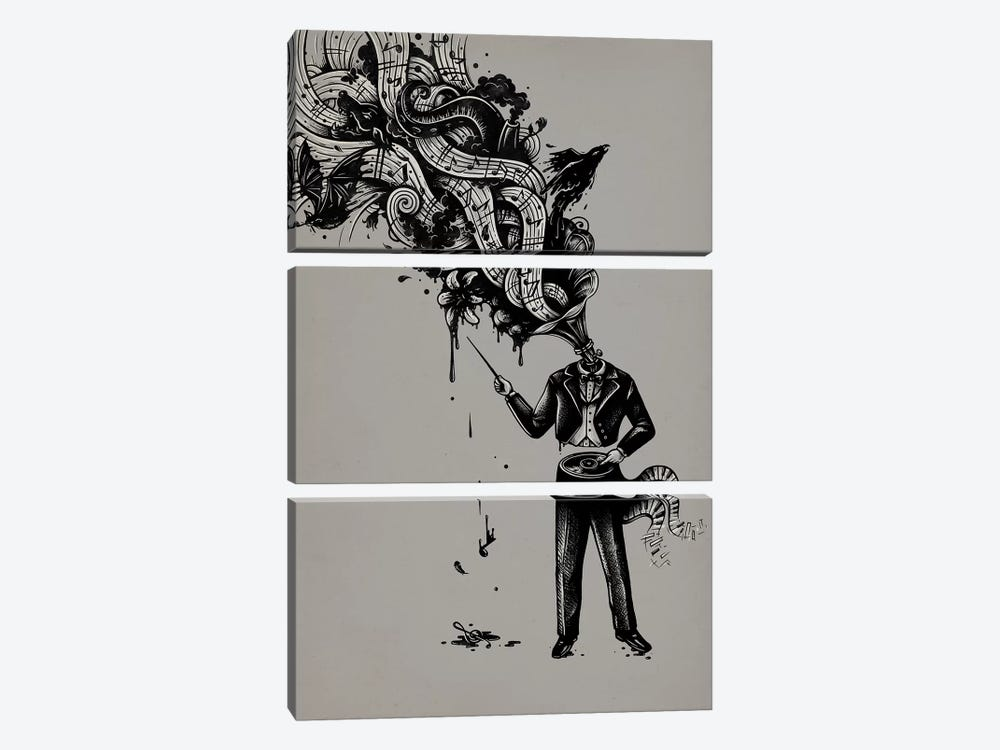 Cacophony 3-piece Canvas Art Print