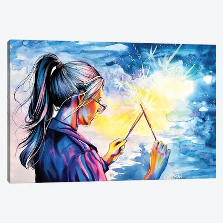 Fireworks Canvas Print #EDL10} by Kelly Edelman Canvas Print