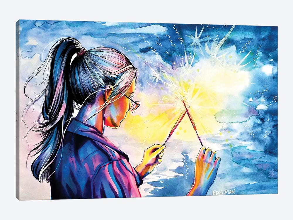 Fireworks by Kelly Edelman 1-piece Canvas Print