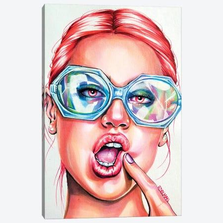 Glasses Canvas Print #EDL12} by Kelly Edelman Canvas Art Print