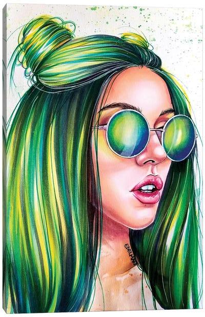 Green Canvas Art Print