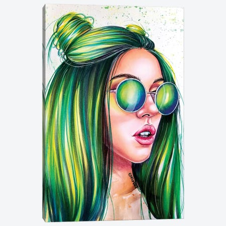 Green Canvas Print #EDL13} by Kelly Edelman Canvas Print