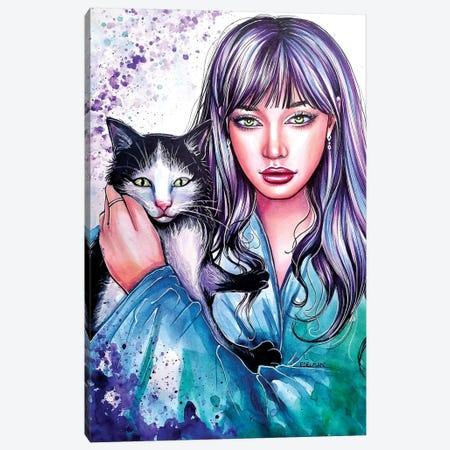 Kitten Canvas Print #EDL17} by Kelly Edelman Canvas Wall Art