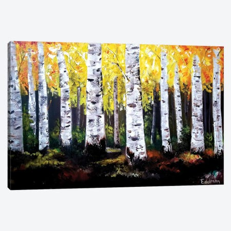 Birch Trees Canvas Print #EDL1} by Kelly Edelman Canvas Art Print