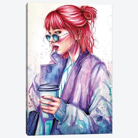 Morning Coffee Canvas Print #EDL24} by Kelly Edelman Art Print
