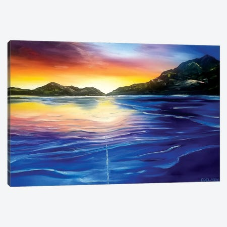 Mountain Ocean Canvas Print #EDL25} by Kelly Edelman Canvas Print