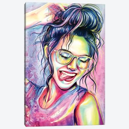 Neon Lights Canvas Print #EDL27} by Kelly Edelman Canvas Art Print