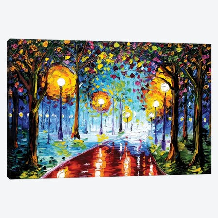 Night Path Canvas Print #EDL29} by Kelly Edelman Canvas Art