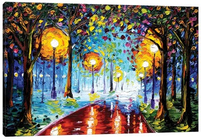 Night Path Canvas Art Print
