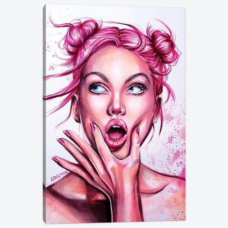 Pink Pop Canvas Print #EDL34} by Kelly Edelman Canvas Art