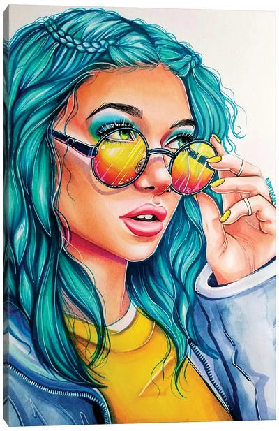 Rose Glasses Canvas Art Print