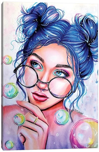 Bubbles Canvas Art Print