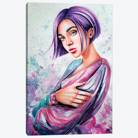 Soft Purple Canvas Print #EDL43} by Kelly Edelman Canvas Wall Art