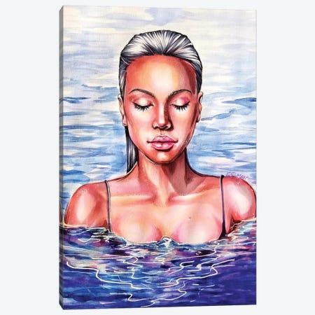 Swimmer Canvas Print #EDL47} by Kelly Edelman Canvas Art Print
