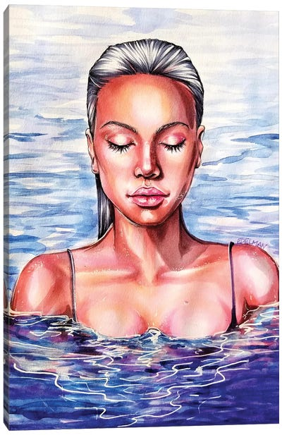 Swimmer Canvas Art Print