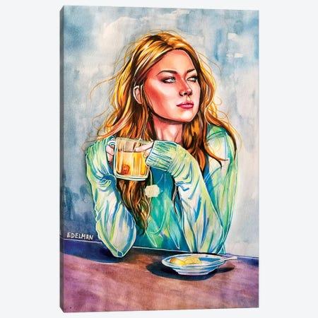 Tea Time 3-Piece Canvas #EDL48} by Kelly Edelman Canvas Art