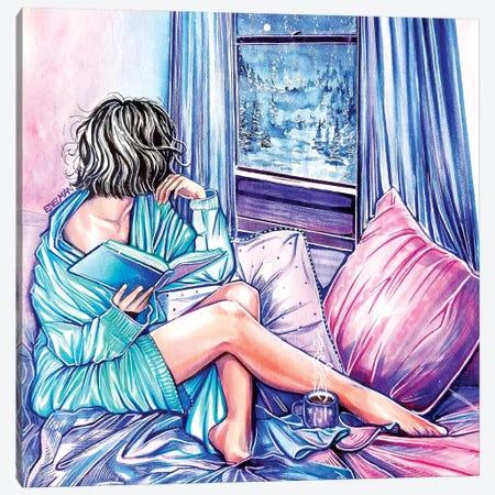 Winter Night Canvas Print #EDL55} by Kelly Edelman Canvas Art