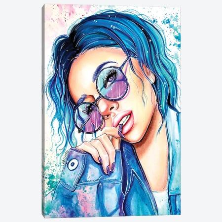 Cerulean Splash Canvas Print #EDL57} by Kelly Edelman Canvas Art