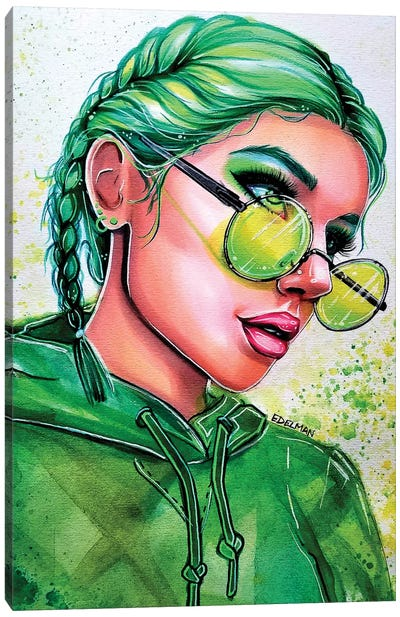 Emerald Green Canvas Art Print