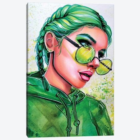 Emerald Green Canvas Print #EDL60} by Kelly Edelman Canvas Artwork