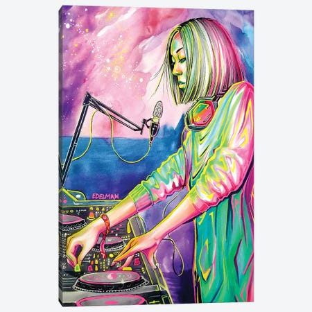 Festival Nights Canvas Print #EDL61} by Kelly Edelman Canvas Art