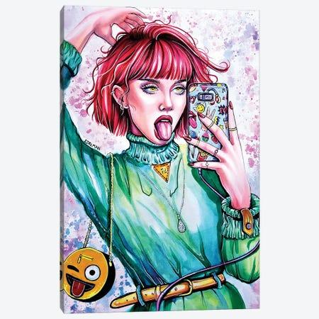 Selfie Canvas Print #EDL67} by Kelly Edelman Canvas Art Print