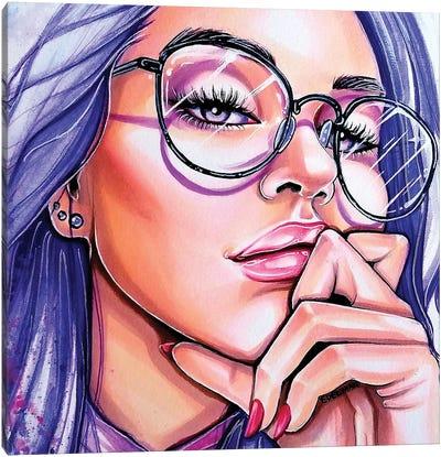 Violet Eyes Canvas Art Print