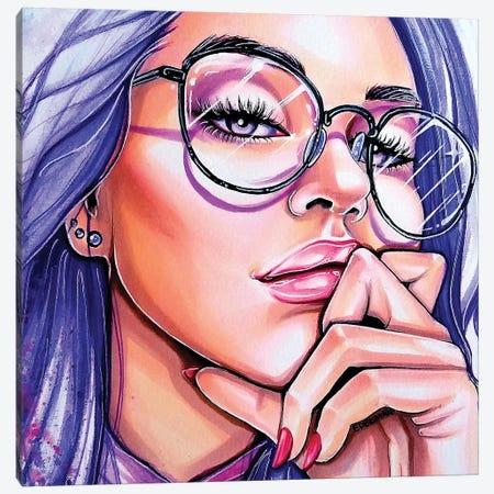 Violet Eyes Canvas Print #EDL70} by Kelly Edelman Canvas Print