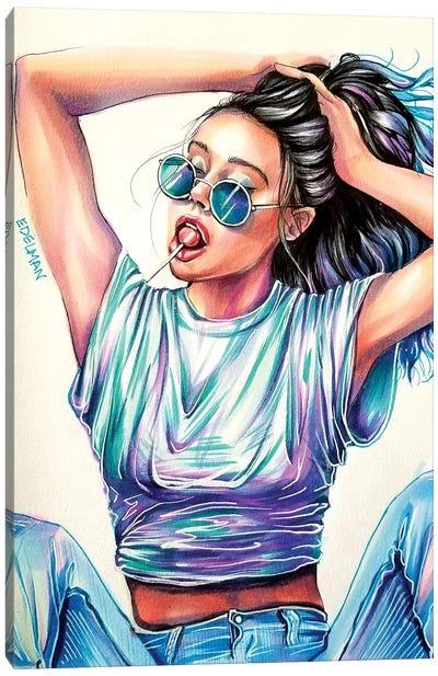 Cool Blue Canvas Art Print