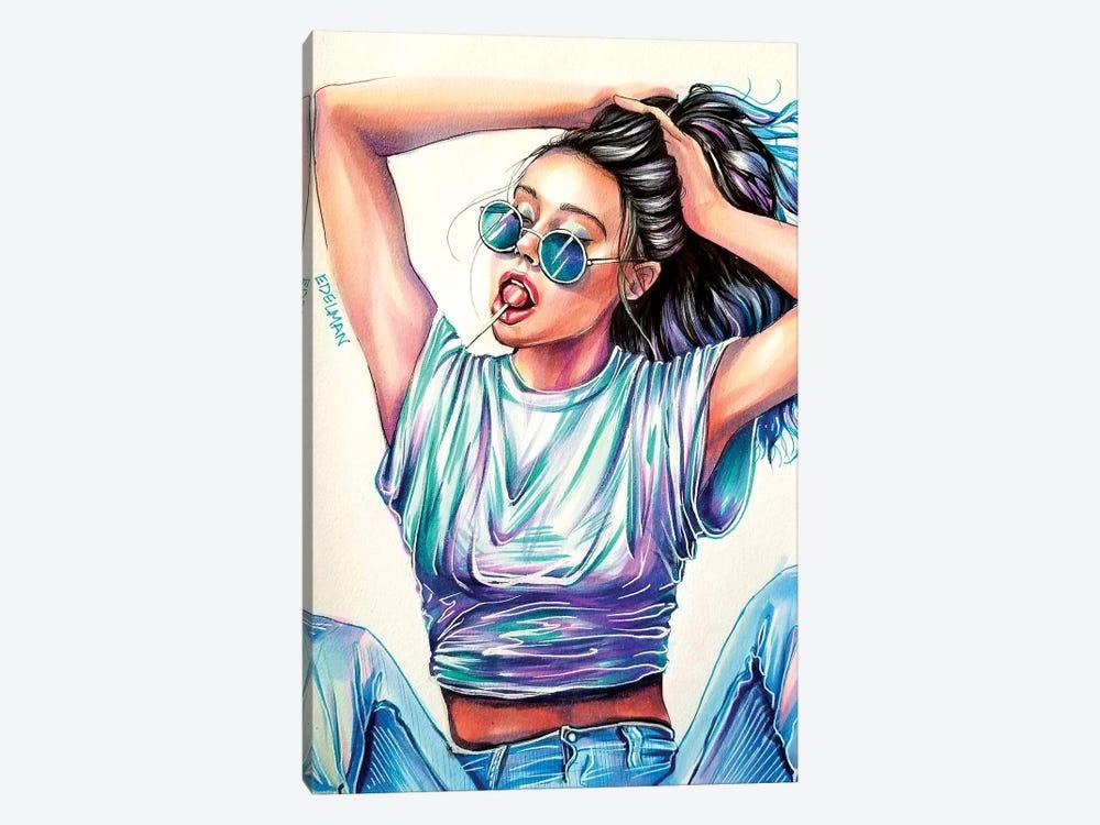 Cool Blue by Kelly Edelman 1-piece Canvas Print