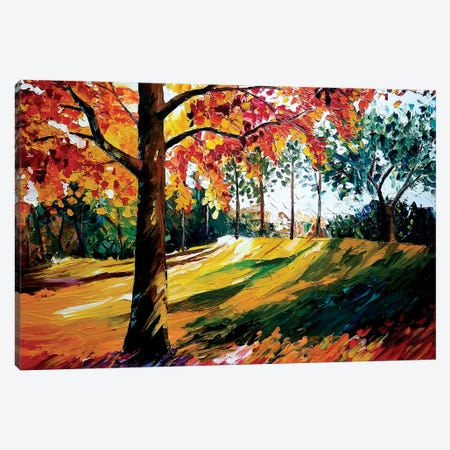 Fall Tree Canvas Print #EDL9} by Kelly Edelman Canvas Print