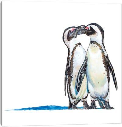 Penguins Meet Canvas Art Print