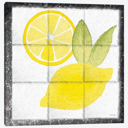 Citrus Tile VI Black Border Canvas Print #EDN4} by Elyse DeNeige Canvas Art
