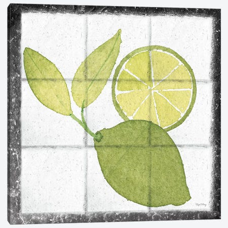 Citrus Tile VII Black Border Canvas Print #EDN5} by Elyse DeNeige Canvas Art