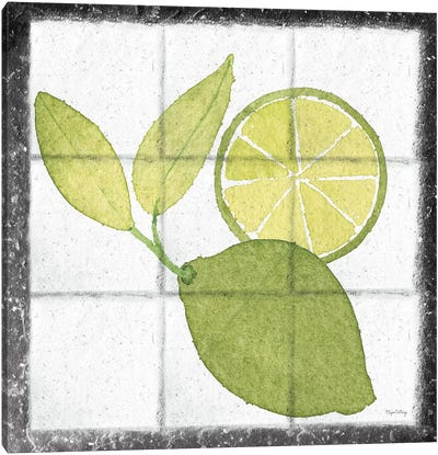 Citrus Tile VII Black Border Canvas Art Print
