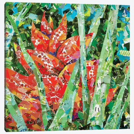 Red Heliconia Canvas Print #EDO13} by Eileen Downes Canvas Artwork