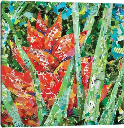 Red Heliconia Canvas Art Print