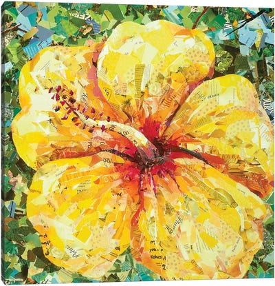 Yellow Hibiscus Canvas Art Print