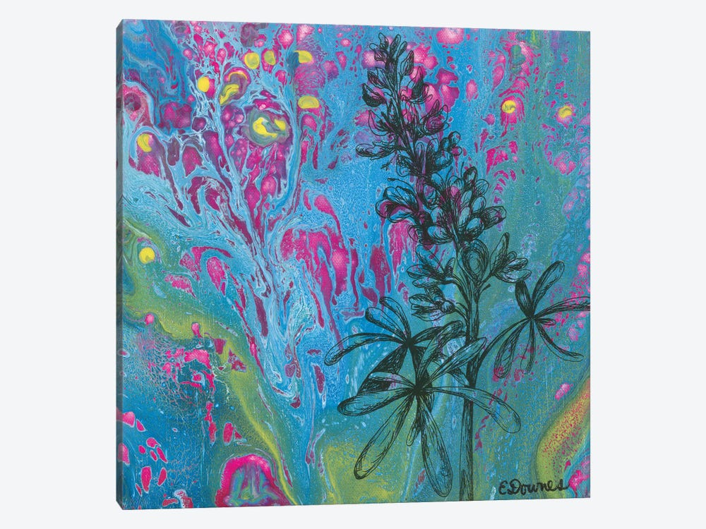 Lupins Forever by Eileen Downes 1-piece Canvas Print