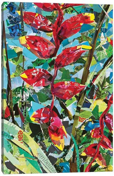 Heliconia Rostrata Canvas Art Print