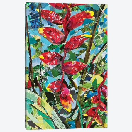 Heliconia Rostrata Canvas Print #EDO4} by Eileen Downes Art Print