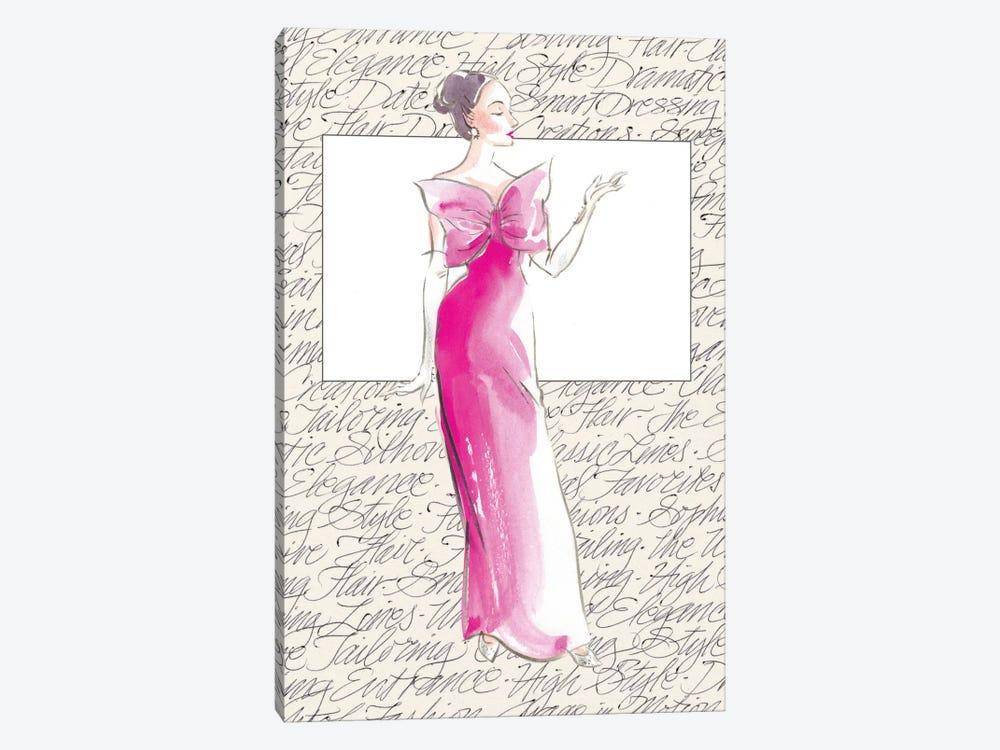 50's Fashion II by Elissa Della-Piana 1-piece Canvas Print