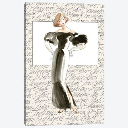 50's Fashion IV Canvas Print #EDP2} by Elissa Della-Piana Canvas Artwork